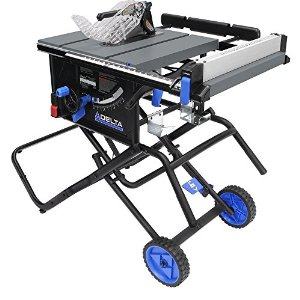 Delta 10 in. 15 Amp Portable Table Saw with Folding Stand reviews