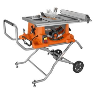 Ridgid R4516 10 in. Portable Jobsite Table Saw with rolling stand