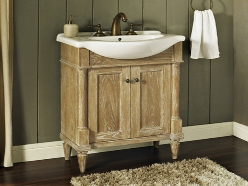 Rustic chic bathroom vanity