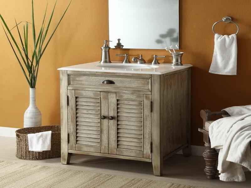 Rustic Cottage Style Bathroom Vanity