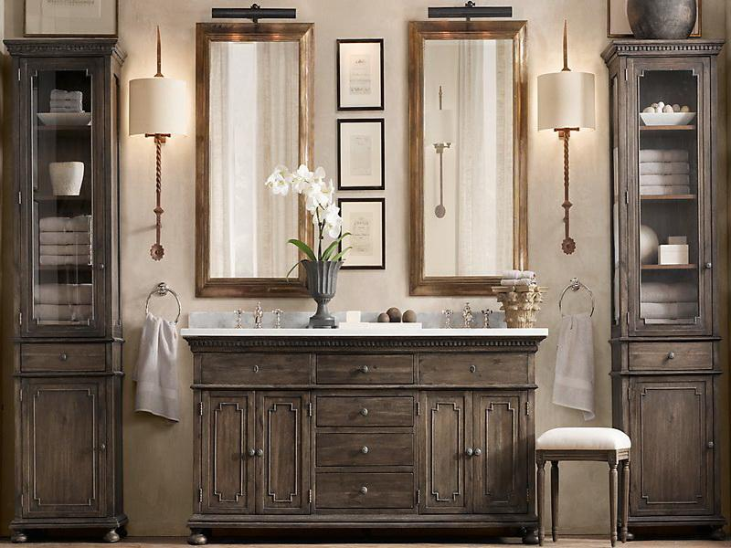 Weathered Rustic Bathroom Vanity