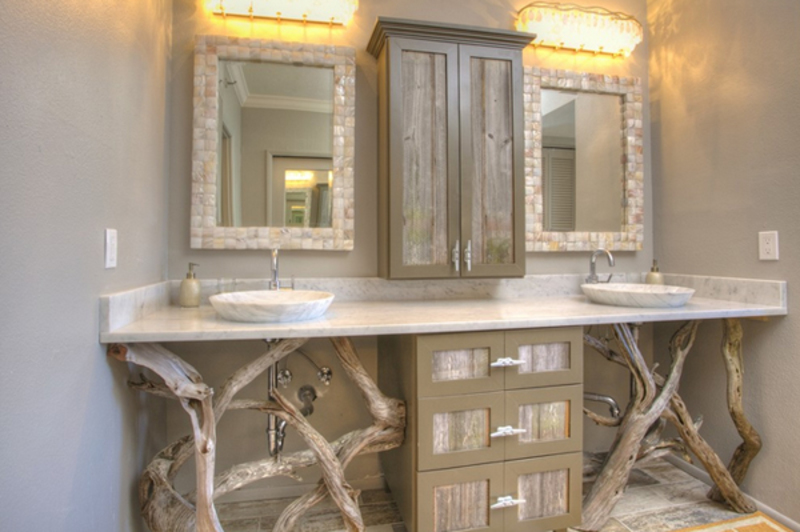 Double Rustic Bathroom Vanity
