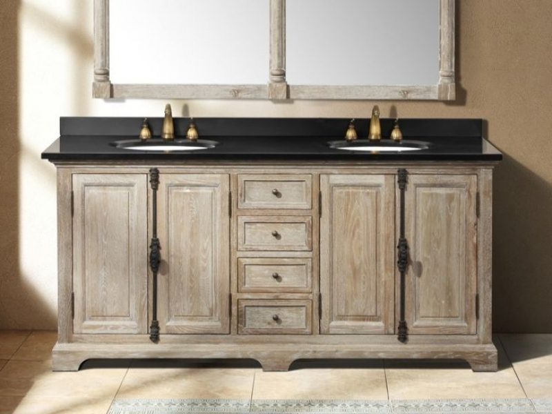 17 amazing rustic bathroom vanity ideas protoolzone for Rustic modern bathroom ideas