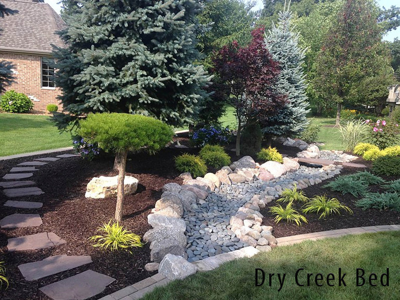 Dry Creek Bed For Drainage