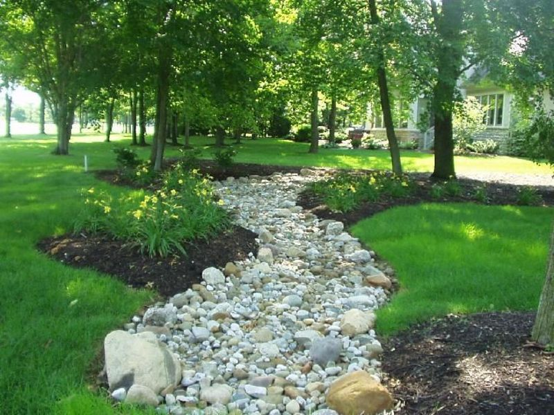 backyard dry creek bed