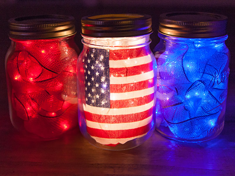 Patriotic mason jar ideas