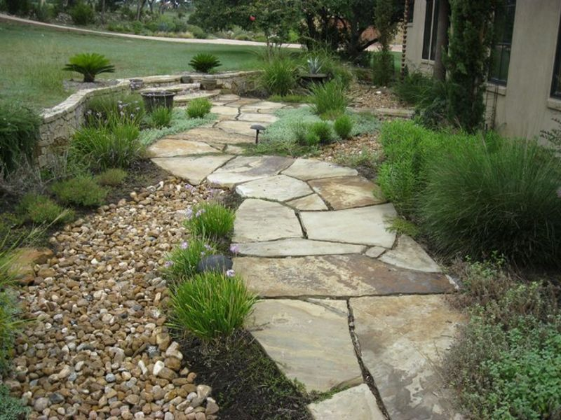 rustic dry creek bed